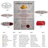 Chesterfield Canapé Original Cuir | 1 + 2 places | Antique Rouge | Garantie de 12 ans_