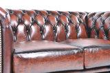Chesterfield Canapé Original Cuir   2 + 3 places   Antique Brun   Garantie de 12 ans_